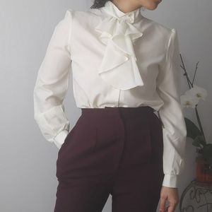 Vintage pirate ruffle button up